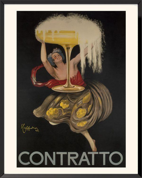 Affiche Contratto de Leonetto Cappiello