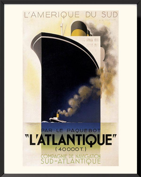 L'Atlantique, affiche de A.M.Cassandre