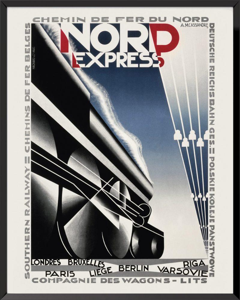 Affiche Nord Express de A.M. Cassandre