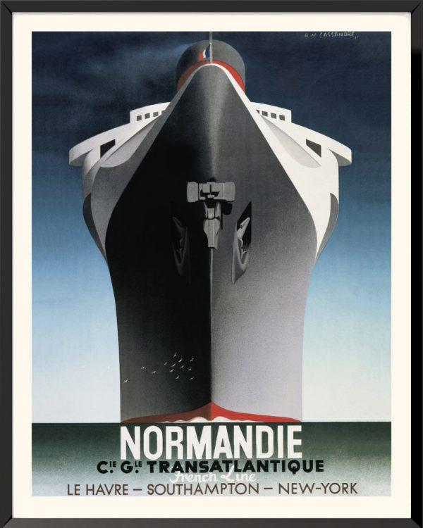 Affiche Normandie de A.M. Cassandre