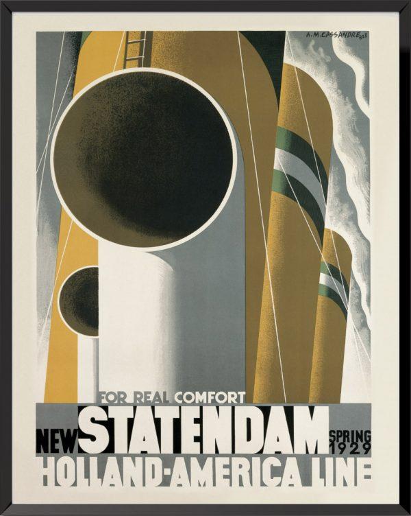 Statendam, affiche de A.M.Cassandre