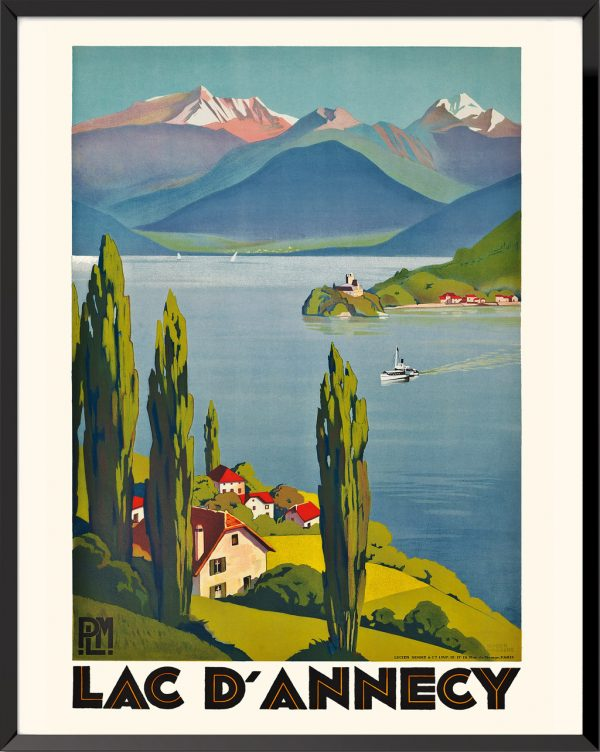 Affiche Lac d'Annecy de Roger Broders