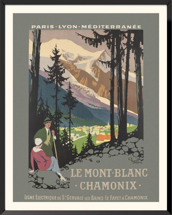Affiche Mont Blanc Chamonix de Roger Broders