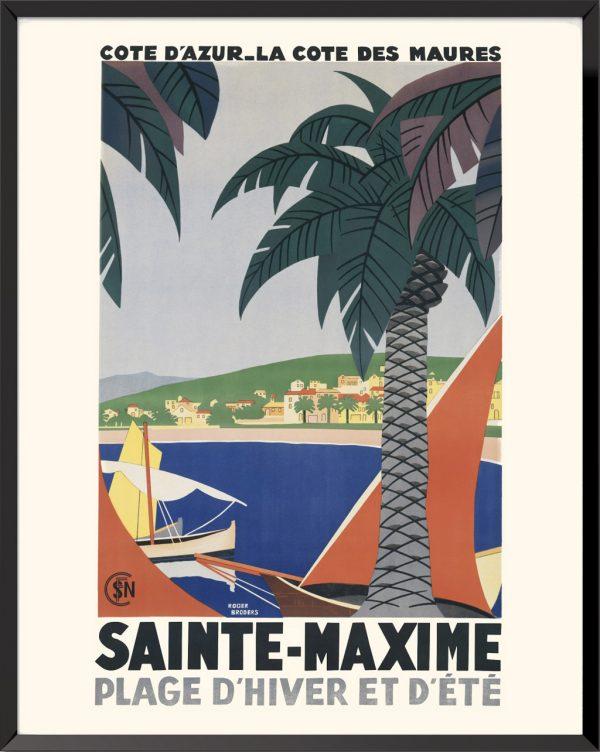 Affiche Sainte-Maxime de Roger Broders
