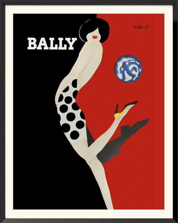 Affiche Bally (1989) de Bernard Villemot