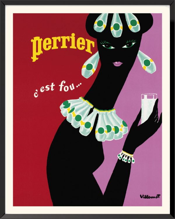 Affiche Perrier (1977) de Bernard Villemot