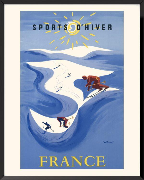 Affiche Sports d'hiver de Bernard Villemot