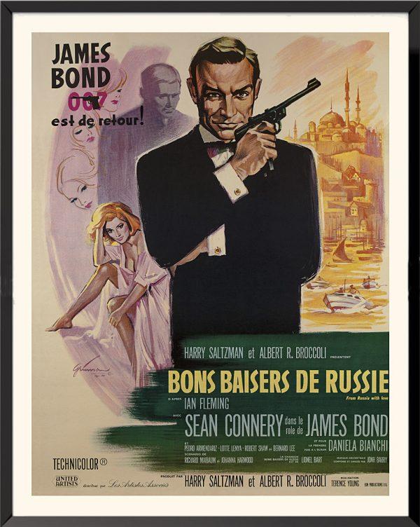 Affiche James Bond, Bons baisers de Russie, de Boris Grinsson