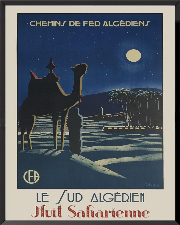 Affiche Chemins de fer Algériens de B. Besse