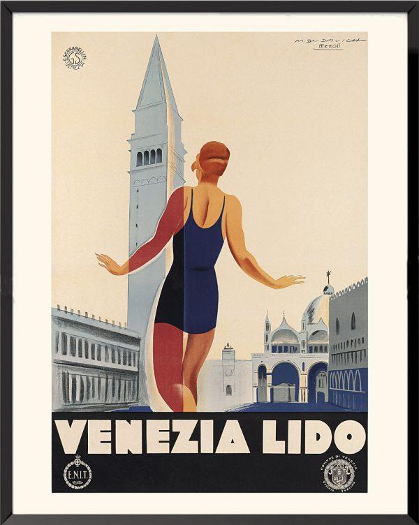 Affiche Venezia Lido de M. Dudovich et M. Nizzoli