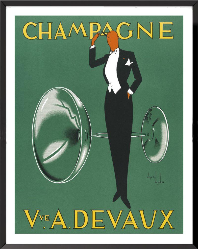 Affiche Champagne Veuve A. Devaud d'Ernst Dryden