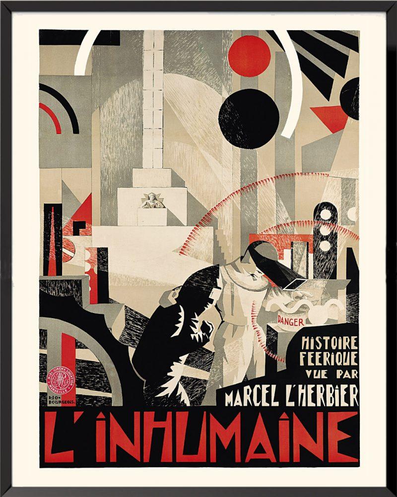 Affiche L'inhumaine de Georges Bourgeois