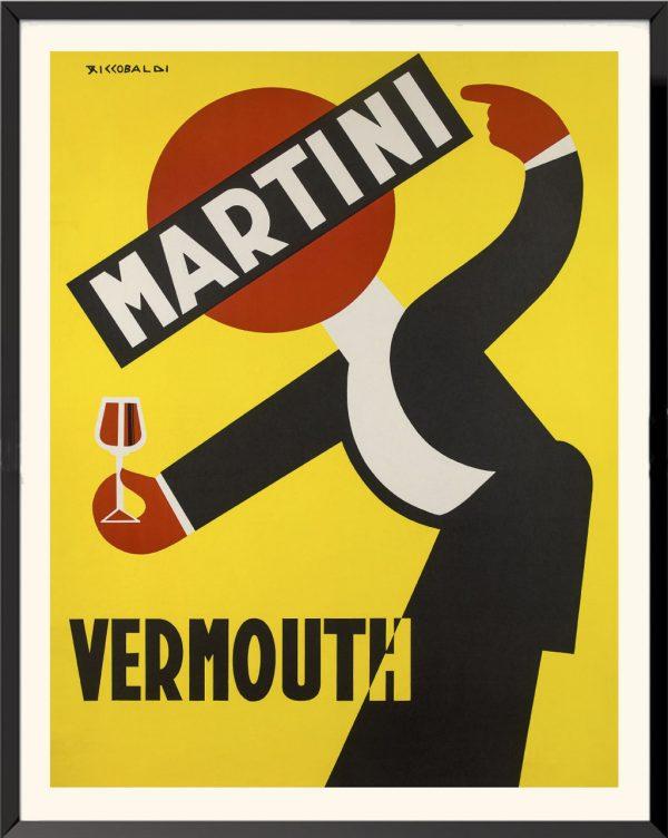 Affiche Martini Vermouth de Giuseppe Riccobaldi