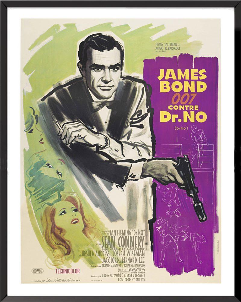 Affiche James Bond 007 contre Dr No, 1962