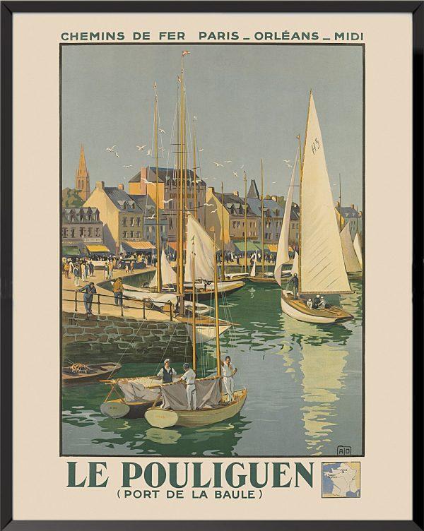 Affiche Le Pouliguen de Jean-Charles Hallo