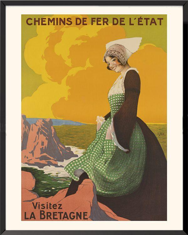 Affiche Visitez la Bretagne de Joseph Stall