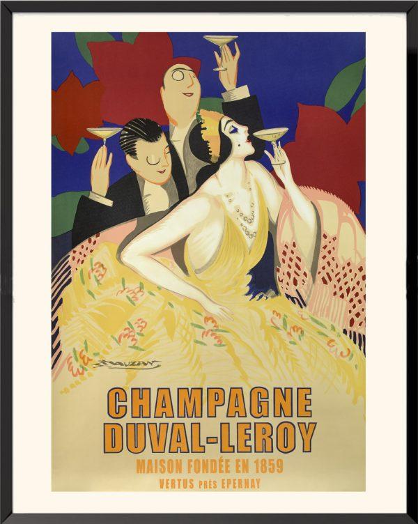 Affiche Champagne Duval Leroy de Lucien Achille Mauzan