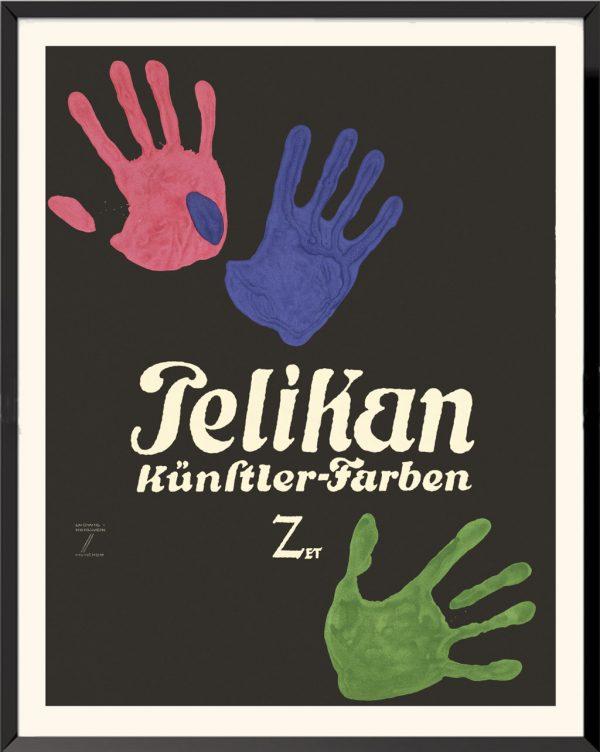 Affiche Pelikan de Ludwig Hohlwein