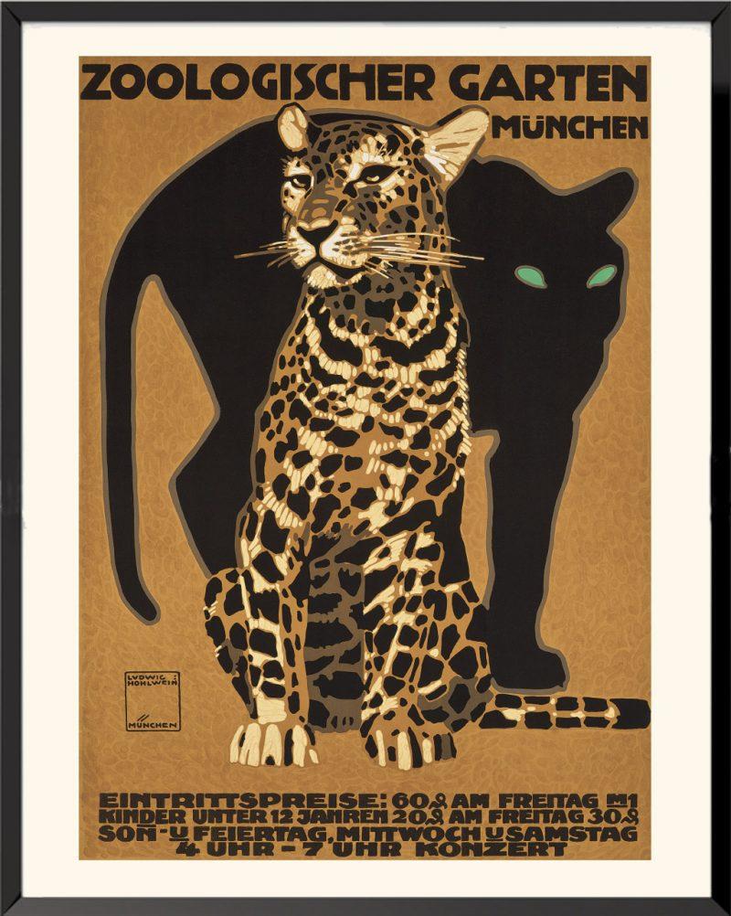 Affiche Zoologischer Garten Müchen de Ludwig Hohlwein