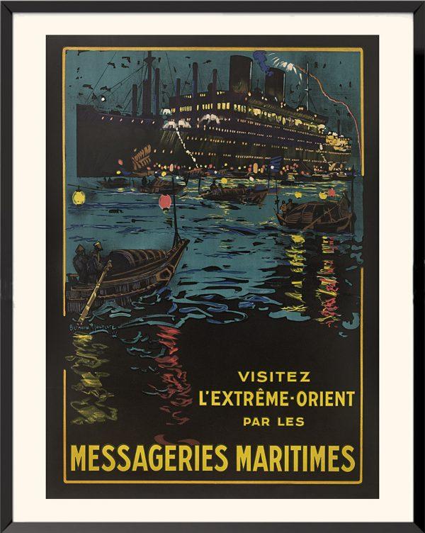 Affiche Messageries maritimes de Bernard Lachévre
