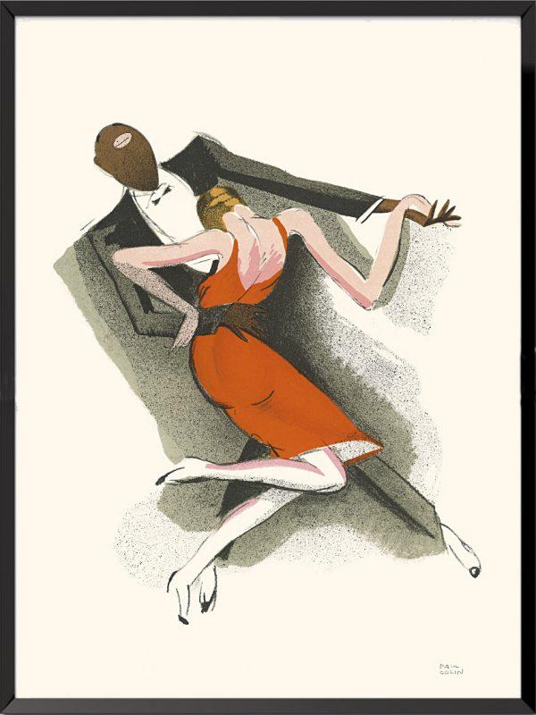 Affiche extraite de l'album Le Tumulte Noir de Paul Colin
