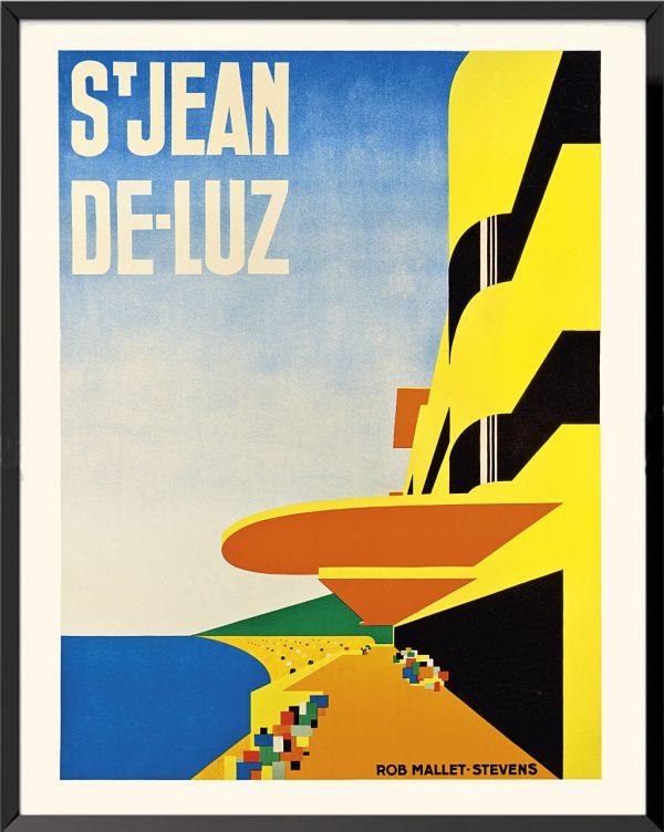 Affiche Saint-Jean-de-Luz de Rob Mallet-Stevens