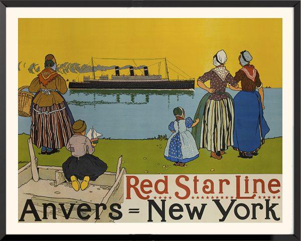 Affiche Red Star Line de Henri Cassier