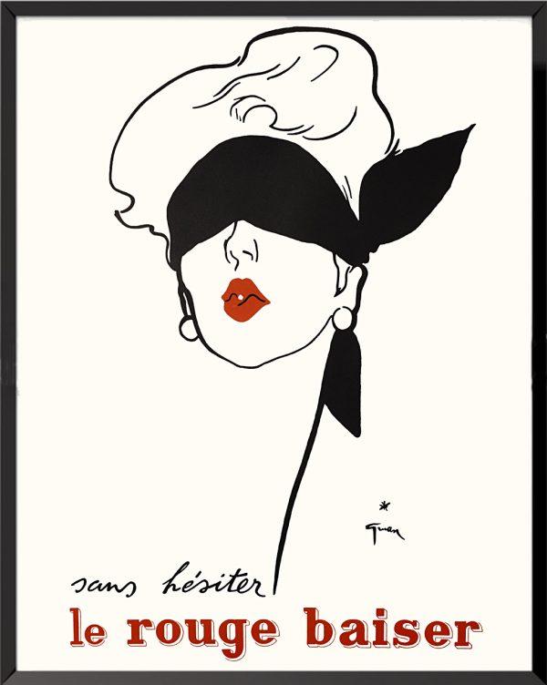 Affiche Le rouge baiser de René Gruau