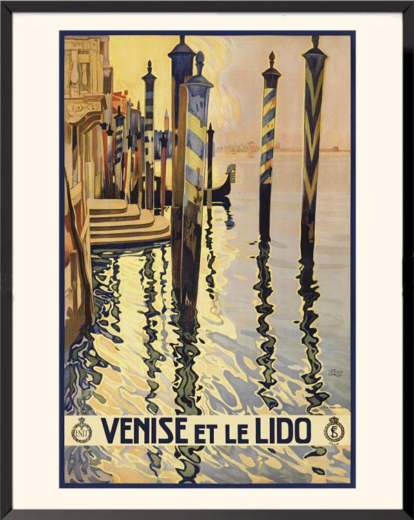 Affiche Venise et le Lido de Vittorio Grassi