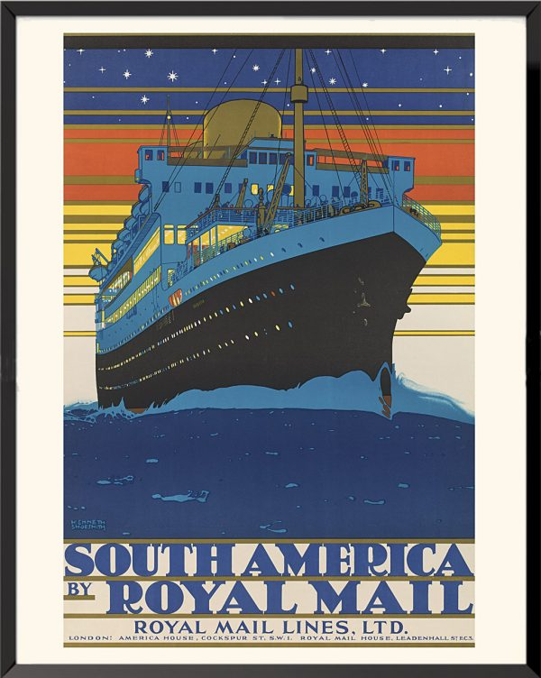 Affiche South America Royal Mail de Kenneth Shoesmith