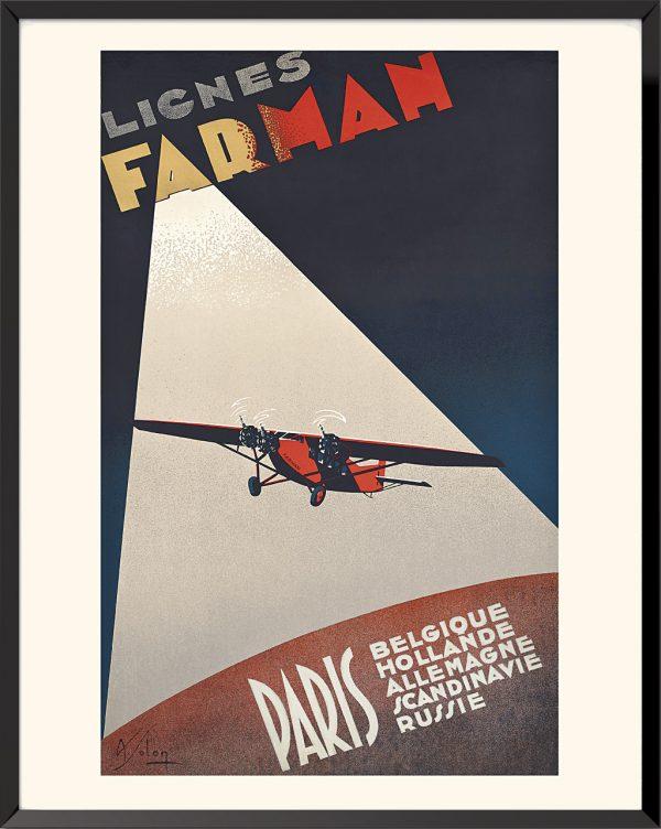 Affiche Lignes Farman de Albert Solon
