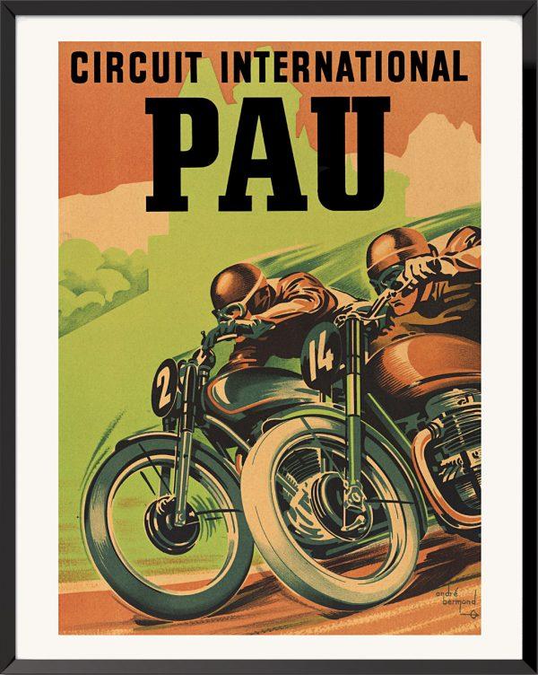 Affiche Circuit international Pau de André Bermond
