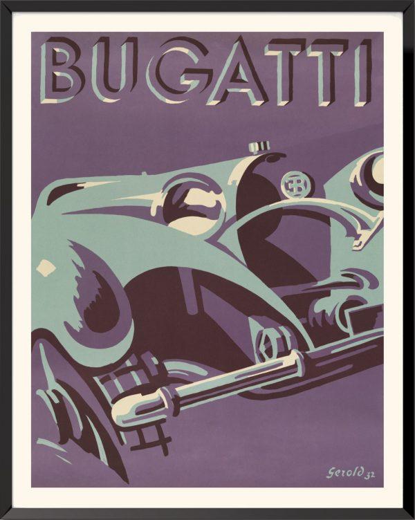 Affiche Bugatti de Hunziker Gerold