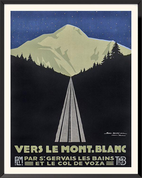Affiche Vers le Mont-Blanc de Géo Dorival