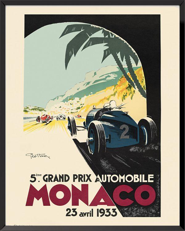 Affiche Grand Prix de Monaco, 1933 de Géo Ham
