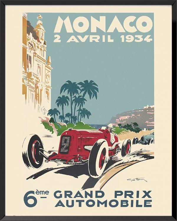 Affiche Grand Prix de Monaco, 1934 de Géo Ham