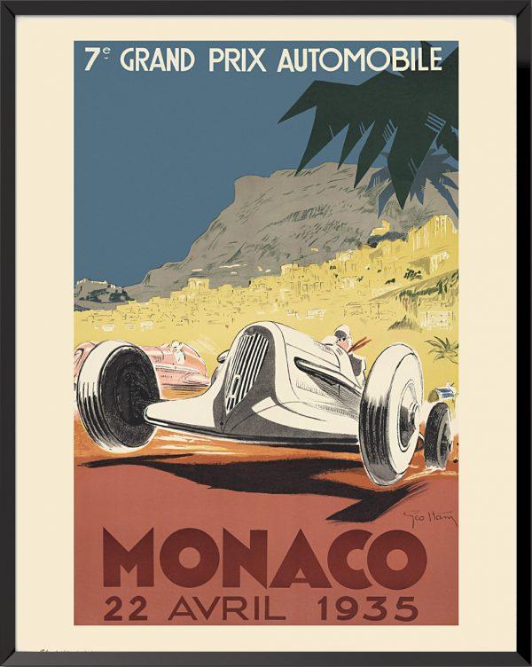 Affiche Grand Prix de Monaco, 1935 de Géo Ham