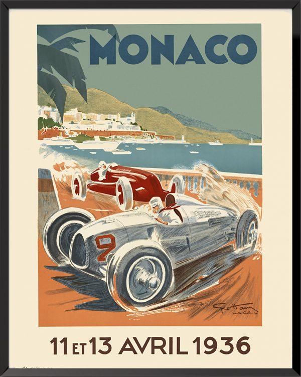 Affiche Grand Prix de Monaco, 1936 de Géo Ham