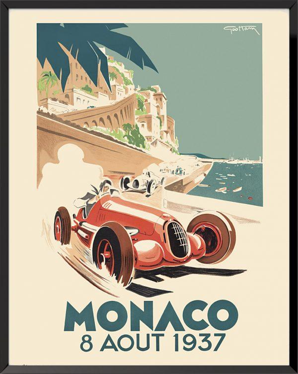 Affiche Grand Prix de Monaco, 1937 de Géo Ham