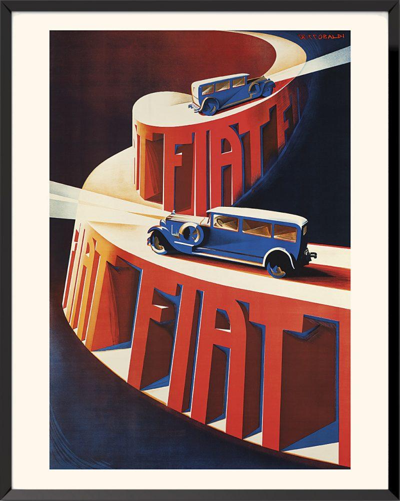 Affiche Fiat de Giuseppe Riccobaldi