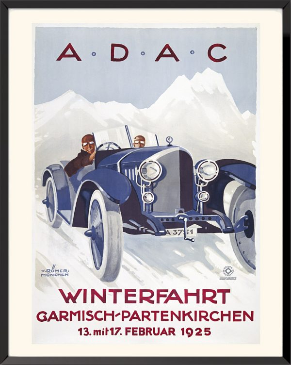 Affiche ADAC Winterfahrt de Hans et Botho von Römer