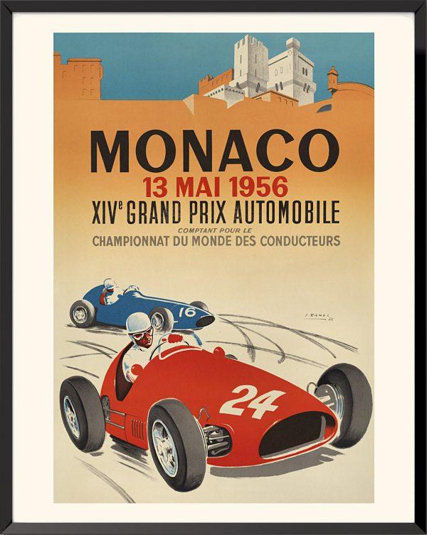 Affiche Grand Prix de Monaco, 1956 de Jacques Ramel