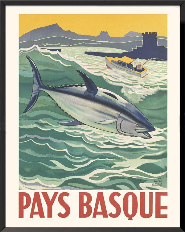 Affiche Pays Basque, Julio Garcia