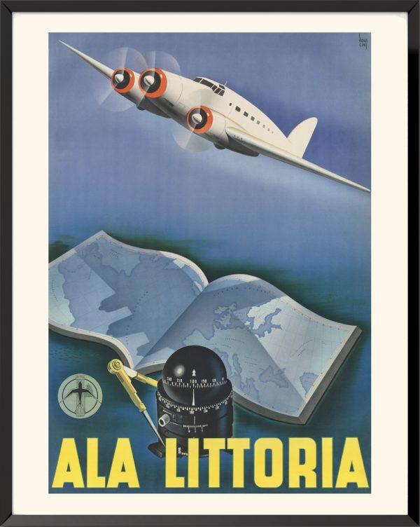 Affiche Ala Littoria de Luigi Bonacini