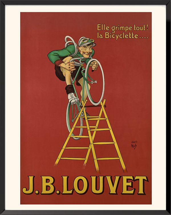 Affiche Cycles Louvet de Jean-Marie Michel Liebeaux dit Mich