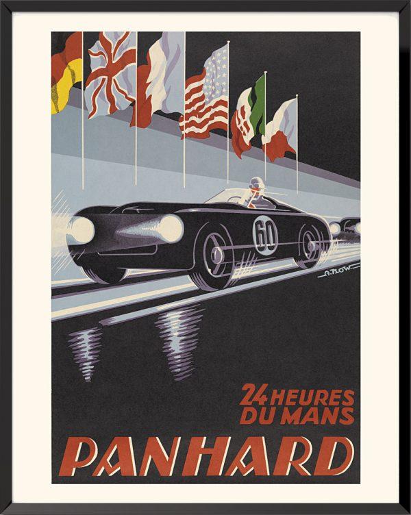 Affiche 24 Heures du Mans, 1959, Panhard et Levassor d'Alexis Kojewnikow