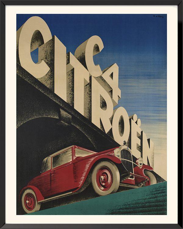 Affiche Citroën C4 de Roger de Valerio