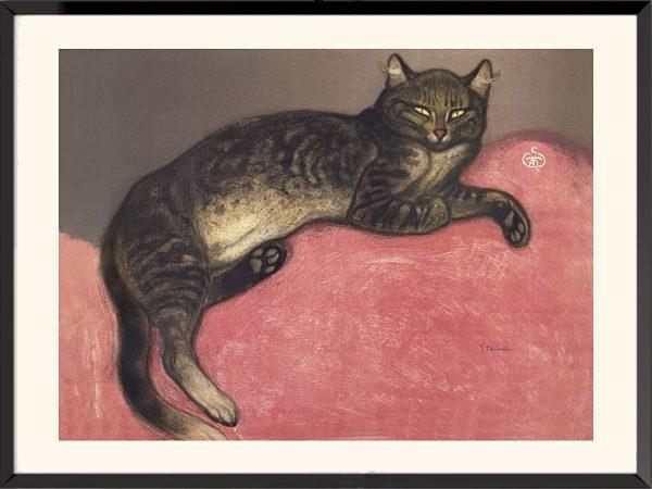 Illustration L'Hiver, chat sur un coussin, Théophile-Alexandre Steinlen