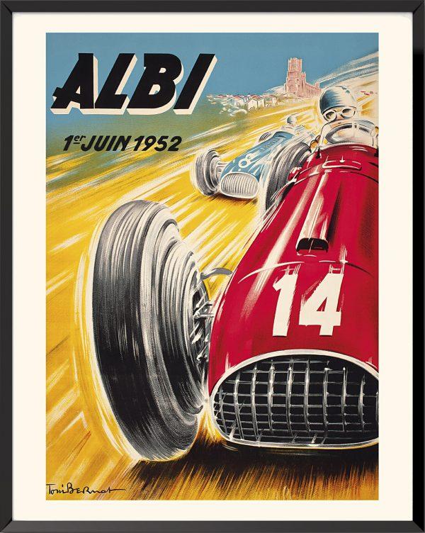 Affiche Albi, Grand Prix de France, 1952 de Toni Bernat