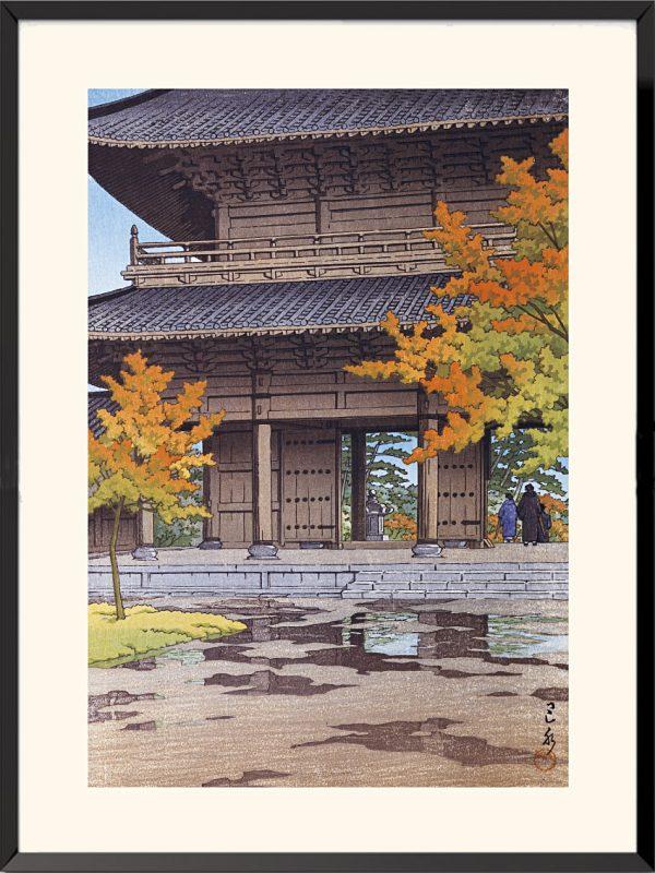 Estampe Averse d'automne au Temple Nanzenji à Kyoto de Kawase Hasui